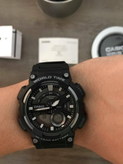 Relógio Casio Aeq-110w-1a - Novo/frete Grátis/prova D