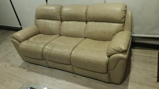 Sofa Reclinable Manual Moderno 3 Puestos