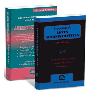 Promo 25 Guía De Administrativo + Compendio Administrativo.