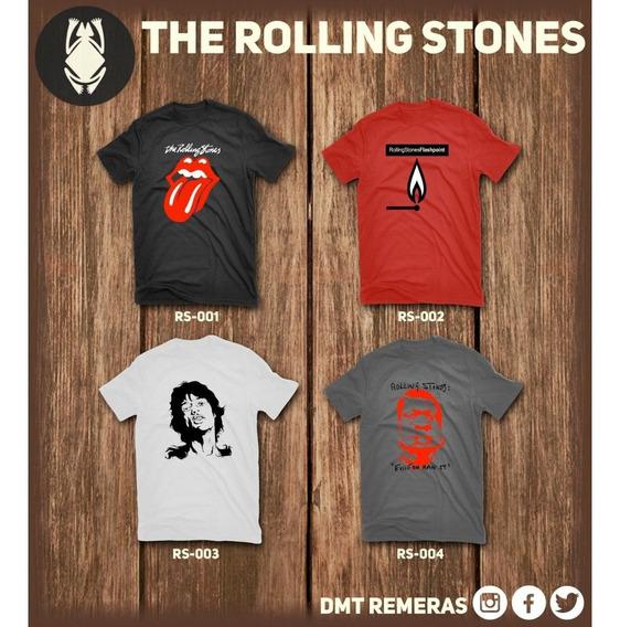 Remeras The Rolling Stones - Estampadas Con Vinilo Importado