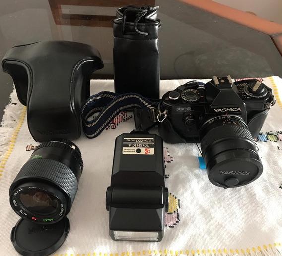 Câmera Fotográfica Yashica Fxd Quartz Profissional Analógica