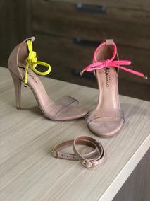 Sandalia 3 Em 1 Com Cordinhas Neon Vibe Amarela E Rosa