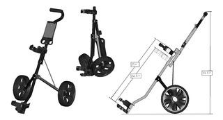 Kaddygolf Carro Manual Golf Caddytek Junior - 2 Ruedas