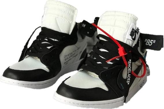 Jordan 1 Retro Black Off White Black Hombre Envio Gratis