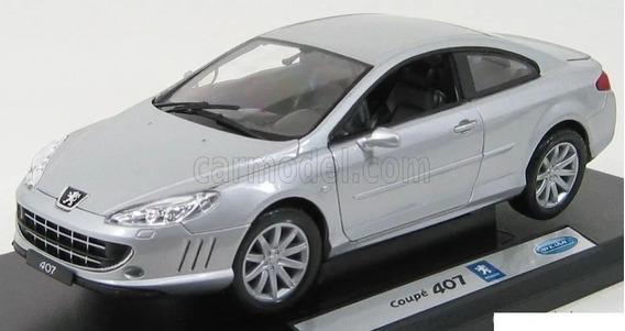 Auto Coleccion Escala Welly Peugeot 407 Cupe