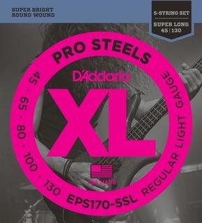 D Addario Eps170 5sl Prosteels Bajos Cuerdas Para Guitarra