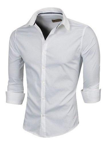 Camisa Ralph, Manga Larga, Slim Fit, Valkymia