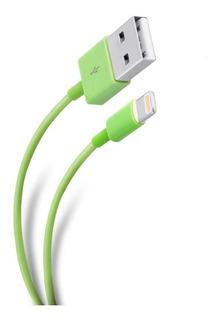 Cable Ultra Delgado Usb A Lightning Color Verde | Pod-400cve