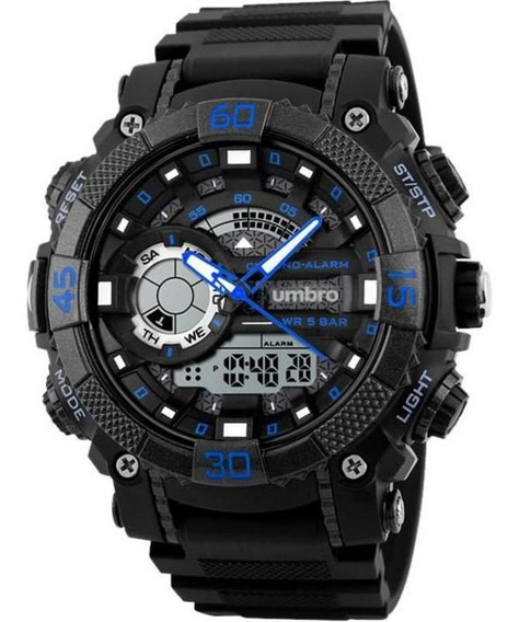 Relógio De Pulso Umbro Umb-119-2 Azul Borracha
