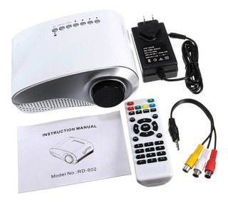 Hdmi 1080p Mini Proyector Led Multimedia Home Theater Usb