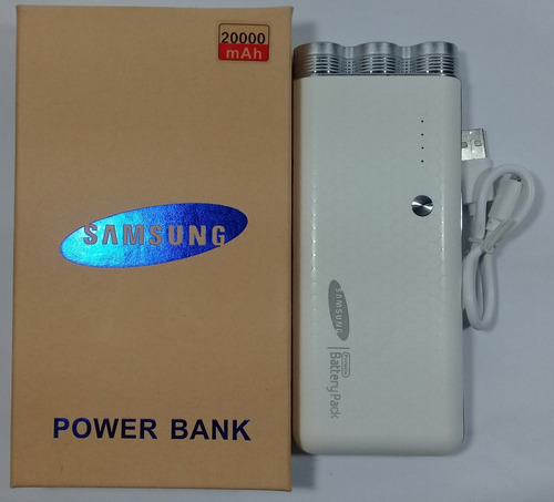 Power Bank Samsung 30.000 Mah Dual Usb, Linterna, Tienda!!!