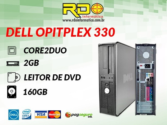 Computador Intel Dell Optiplex 330 Core2duo 2gb Hd 160 Wifi