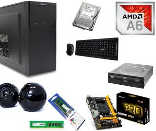 Computadora Amd A6 7400k 8gb Ram Hdd 1tb Wifi Dvd Windows 10