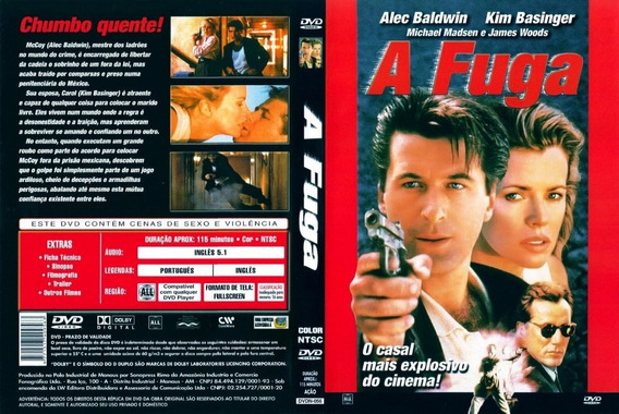 Dvd A Fuga 1994 - Dublado - Alec Baldwin + Kim Basinger