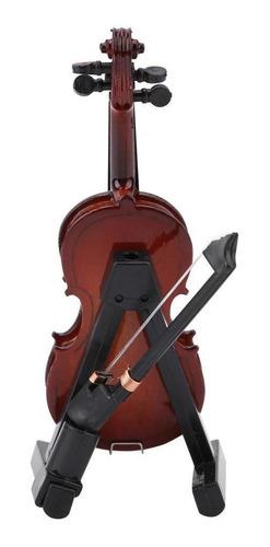 caja modelo de viol/ín en miniatura con soporte decoraci/ón de regalo Viol/ín en miniatura accesorios de casa de mu/ñecas Mini instrumento musical