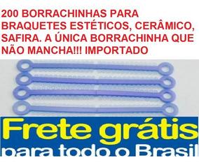 200 Borrachinhas Braquetes Estéticos + Rolo Azul Perola