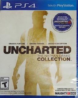 Uncharted Collection Ps4 Fisico En Español Original Nuevo
