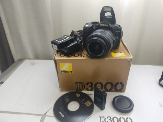 Nikon D3000+lente 18-55