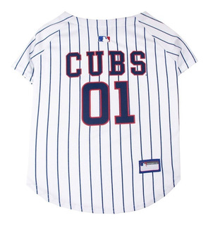Pets First Mlb Chicago Cubs Dog Jersey, Medium. - Pro Team C