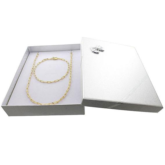 Cordão Corrente Cartier Banhada Ouro+ Pulseira+box C/garant.