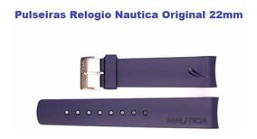 Pulseiras Relogio Nautica Original 22mm Na Cor Azul Nova