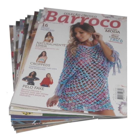 Crochê Barroco Coleção Círculo Com 10 Revistas Gráficos