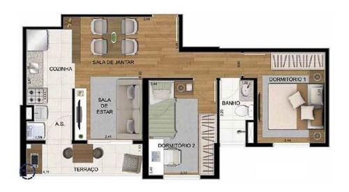Apartamento Com 2 Dorms, Morro Nova Cintra, Santos - R$ 240.000,00, 51m² - Codigo: 10466 - V10466
