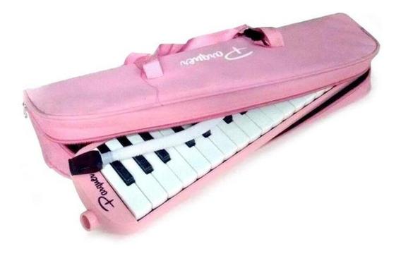 Flauta Melódica 32 Notas Parquer C/ Funda Color Rosa