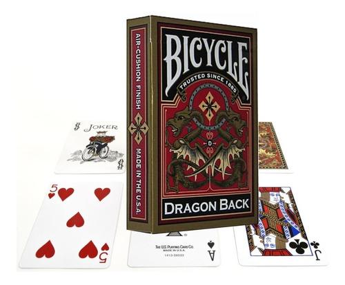 Naipe Cartas Baraja Bicycle Dragon Back Gold Originales