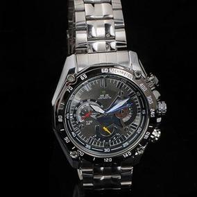 Relógios Mão Com A Fita De Aço Inoxidável - Preto
