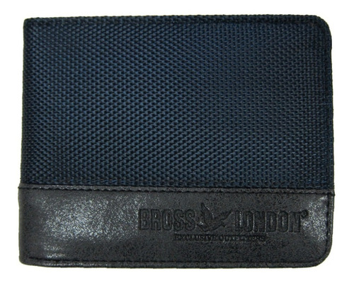 Billetera Bross Brs-6019 Hombre Cuero Pu+textil