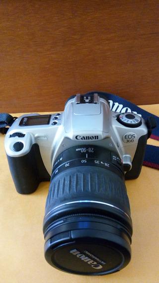 Câmera Canon Eos 35mm + Lente 28-90mm + Lente 100-300mm