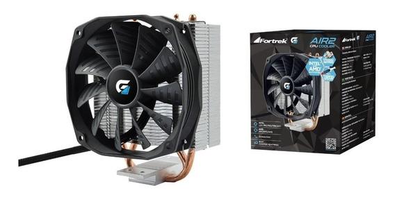 Cooler Desktop Cpu Pc Fortrek 10cm Ventilador Amd Intel