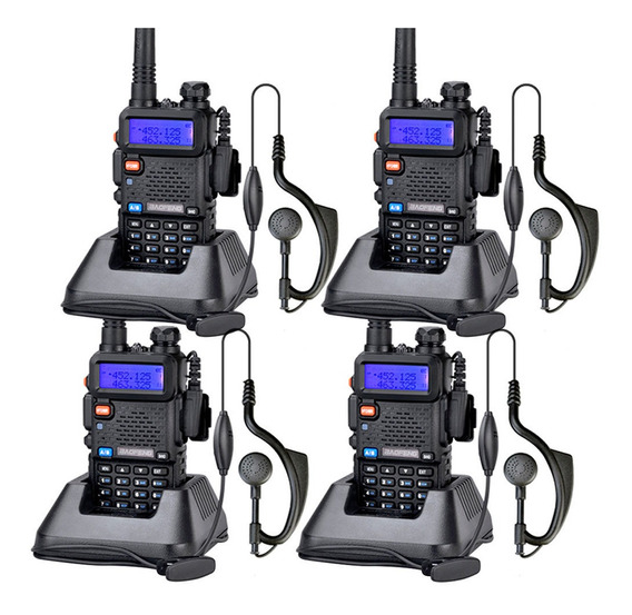 Kit Handies X 4u Baofeng Uv5r Bi Banda Recargable Uhf Vhf