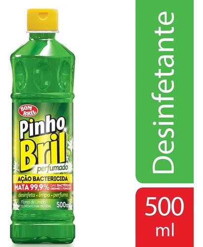 Imagem 1 de 1 de Desinfetante Pinho Bril Flores De Limao 500ml