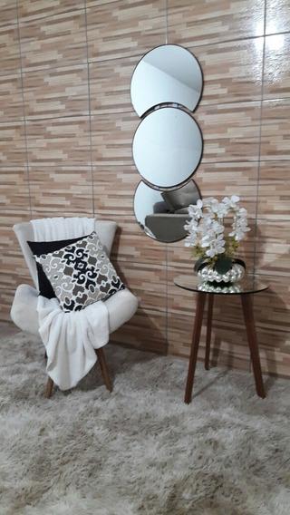 Espelho Redondo Para Decoração 1.17 Metro 47.5 Cm