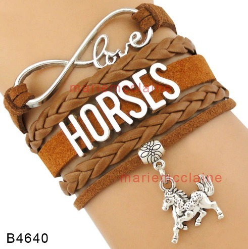 Pulseira Horses (cavalos) - Preta