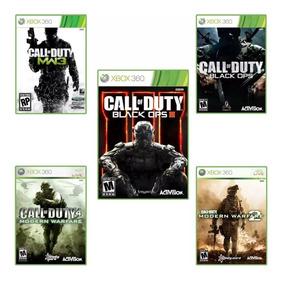 Pacote Call Of Duty Mw2,3,4 E Bo1 E 3 Mídia Digital Xbox 360