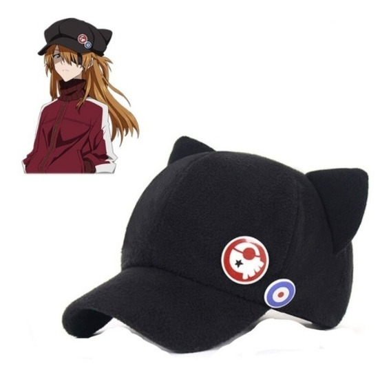 Gorra Asuka Evangelion Langley Unisex E.gra Anime Gato Japon