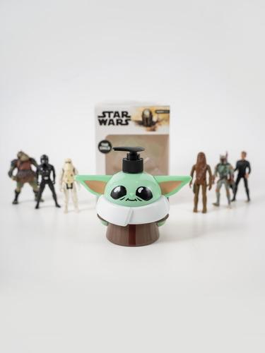 Imagen 1 de 3 de Star Wars Baby Yoda Jabón Liquido The Mandalorian
