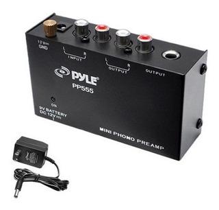 Pyle - Pp555 - Ultra Compacto Tocadiscos Preamplificador