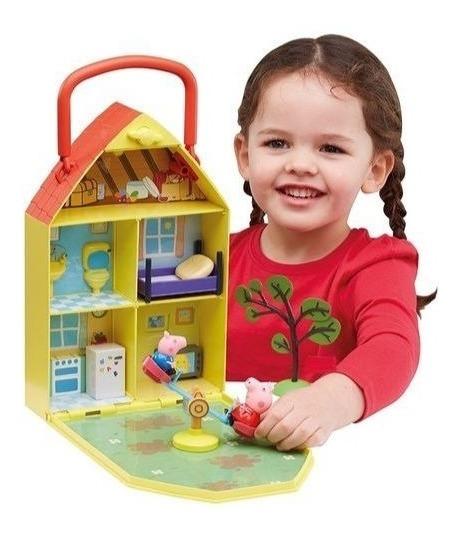 Peppa Pig Casa Com Jardim Dtc - 4206
