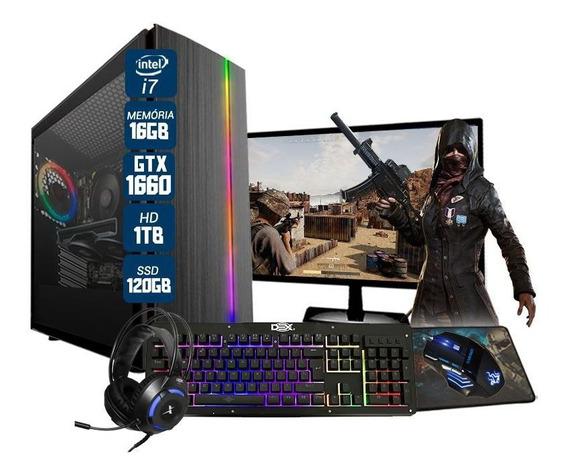 Computador Gamer Bravus Intel Core I7 Gtx1650 16gb Hd 1tb