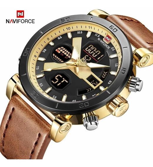 Relógio Dourado Luxuoso Barato Naviforce 9132 Frete Grátis