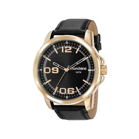 Relógio Mondaine Masculino Dourado/preto 99382gpmvdh1