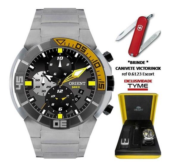 Relógio Orient Seatech Scuba Diver Titanium Masculino Mbttc003 P1px + Brinde C/ Nfe
