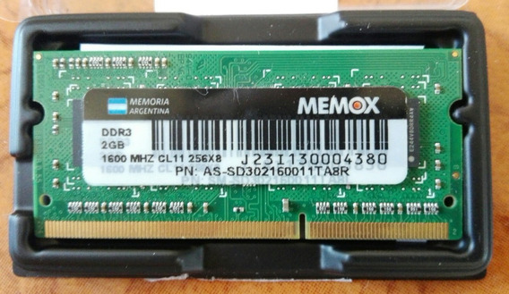 Memoria Note 2gb Ddr3 1600mhz Memox