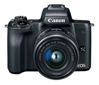 Camara Canon Eos M50 Con Lente Ef-m15-45 Is Stm