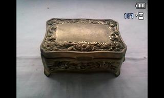 Caja Cofre Joyero En Metal