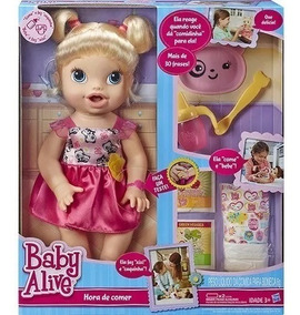 Boneca Baby Alive Loira Hora De Comer - Hasbro A7022